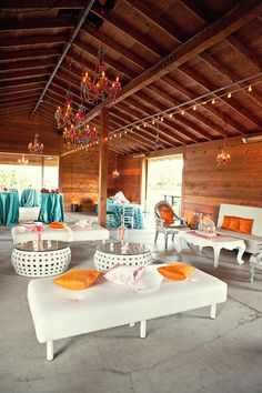 lounge area for your colorfully modern  wedding. I like the teal and orange color scheme for spring/summer 2013