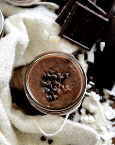Give the gift of homemade chocolate coconut sugar scrub.