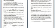 Free Online Contracts Templates Sample Free Contract Template  Certificate Templates  Pinterest .