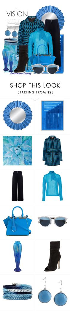 """""""Work Wear #27"""" by maximum-beauty on Polyvore featuring Wendover Art Group, Ren-Wil, M Missoni, Être Cécile, Delpozo, Fendi, Christian Dior, Daum, Halston Heritage and Nicole By Nicole Miller"""