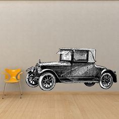 Large Classic Antique Car Vinyl Wall Decal by WilsonGraphics, $80.00