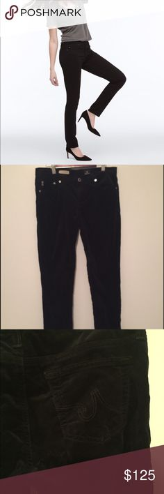 AG black Stilt cigarette corduroy denim Super soft and great stretch!  Excellent used condition.  Like new.  Measurements happily given upon request!  No trades. Reasonable offers welcome 🍾Note: 20% off bundles of 2+ items in my closet! AG Adriano Goldschmied Jeans Straight Leg