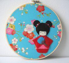 kokeshi doll wall hanging | Flickr - Fotosharing!