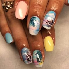 seascape nails