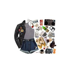 """Tadaa"" by kibitzer on Polyvore featuring Grace, Ultimate, Dot & Bo, AllSaints, Summer, shorts, leatherjacket and rocknroll"