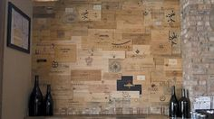 Wine crate wall at Davanti Enoteca - Home Design - Time Out Chicago Wooden Wine Crates, Old Crates, Wine Brands, Wine Wall, Tasting Room, Caves, House Design, Home, Panel Walls