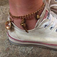"""10 Likes, 1 Comments - Nostalgems (@nostalgems) on Instagram: """"A creative customer designed her own charm anklet! #nostalgems #jewellery #customjewellery…"""""""