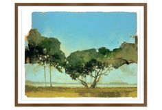Greg Hargreaves, Trees of Kiawah. 40x32h. $299. In brown frame