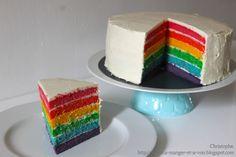 A manger et à voir: Rainbow cake (recette en photos et vidéo)