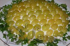 Salata de pui cu struguri si cascaval Honeydew, Dairy, Cheese, Fruit, Food, Salads, Essen, Meals, Yemek