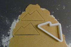 Sugar Cookie Cutter Forms: Michigan's Upper Peninsula, Snow Boarder, Alpine Mountain, Hat, Mitten, Snow Flake