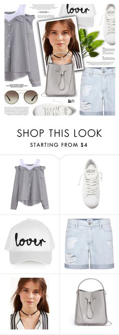 """""""Lover"""" by defivirda ❤ liked on Polyvore featuring Golden Goose, Topshop, Paige Denim, 3.1 Phillip Lim and Prada"""