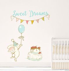 Toddler Wall Art Toddler Decal Toddler Decor Baby Wall Name Baby Wall Stickers Baby Wall Decor Baby Wall Decal Kids Wall Bunny 007WDBB by TppCardS #tppcards #printable #invitations