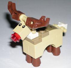 LEGO Santa's Christmas Reindeer Minifigure Rudolph The Red Nosed Reindeer in Toys & Hobbies, Building Toys, LEGO | eBay