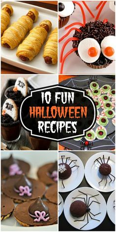 A collection of snacks and treats for Halloween Parties!! { lilluna.com }