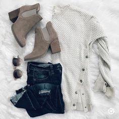 Latest Fashion Trends – This casual outfit is perfect for spring break or the Fall. 30 Affordable Casual Style Ideas To Inspire Every Girl – Latest Fashion Trends – This casual outfit is perfect for spring break or the Fall. Casual Fall Outfits, Summer Outfits Women, Fall Winter Outfits, Autumn Winter Fashion, Spring Outfits, Cute Outfits, Casual Winter, Party Outfits, Ladies Outfits