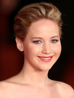 Jennifer Lawrence's Coral Lips