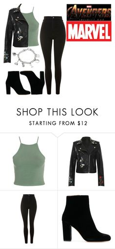 """""""Avengers Infinity War Trailer"""" by akemi-hikari ❤ liked on Polyvore featuring WearAll, Topshop and Marvel"""