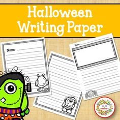 Halloween Writing Paper by Sweetie's | Teachers Pay Teachers Learning Resources, Teaching Ideas, Kindergarten Blogs, Writing Lines, School Reviews, Learn To Spell, Sight Word Activities, Teacher Organization, Writing Paper
