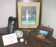 Memory table of a golf lover