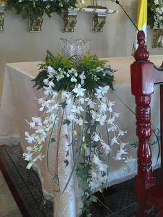 Velas y orquídeas