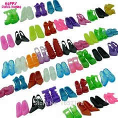 12 Pairs Mixed Fashion Colorful High Heels Sandals Accessories For Barbie Doll Shoes Clothes Dress Prop Girl Baby Best Gift Toys-in Dolls Accessories from Toys & Hobbies on Aliexpress.com | Alibaba Group