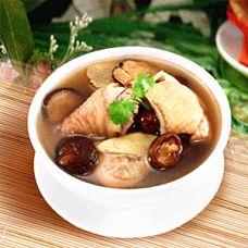 sopa de pollo con setas chinas