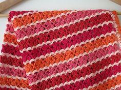 Haakpatroon baby deken Simply in red baby door BlageCrochetDesign