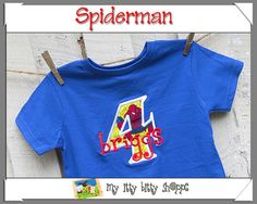 Spiderman Party Spiderman Shirt Spiderman by MyIttyBittyShoppe, $16.99