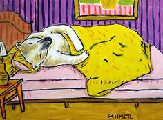 Polar Bear sleeping bedroom decor signed animal art Print...