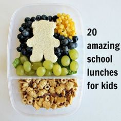 20 Amazing School Lunches for Kids. GREAT IDEAS! via  Lampert Lampert Lampert Lampert Lampert Lampert Wagasky Domestic #foods