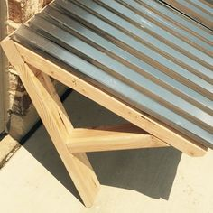 Corrugated metal + studs = an awesome Saturday project #studly #shanty2chic #sneakpeek