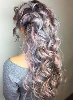 Risultati immagini per silver lavender hair