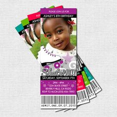Roller Skating Ticket Invitations (printable) - Perfect for a birthday skate party!