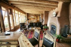 -Earthship- I like the mixture of earthship and lodgey-ness. Comfy! It calls to me. :)