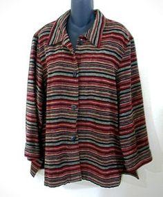 26c222a5b404f Sag Harbor Chenille Button Down Button Down Shirt Striped Sag Harbor