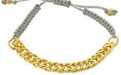 Shashi Chain Yellow Gold on Grey - ShopStyle