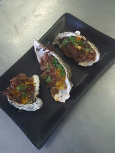 Oyster with flavoured butter and roast beef  #KAYLANMOTHILAL