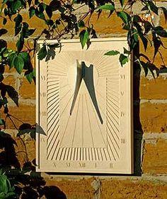 Arcadian Wall Sundial by Haddonstone  www.haddonstone.com
