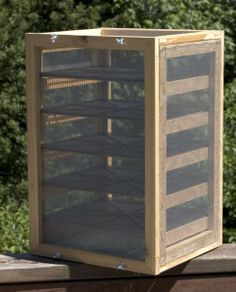 large scale food dehydrator for airdrying fruits and veggies - a DIY project