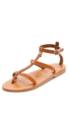 (Limited Supply) Click Image Above: K. Jacques Gina Flat Sandals