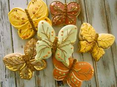 Fall Butterflies Summer Cookies, Fall Cookies, Cut Out Cookies, Cookies And Cream, Flower Sugar Cookies, Butterfly Cookies, Royal Icing Cookies, Cupcake Cookies, Thanksgiving Cookies