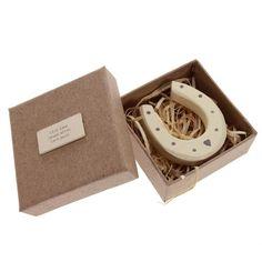 Boxed Wooden Horseshoe Gift