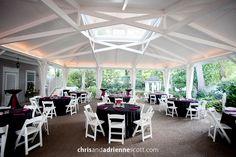 Nashville Garden Wedding | CJ's Off the Square | Black and White Morning Reception - Photo: Chris & Adrienne Scott