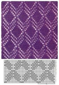 Lace - Knitting Kingdom Lace - Knitting Kingdom Knitting , lace processing is the most beautiful hobbies that ladies can not give up. Lace Knitting Stitches, Lace Knitting Patterns, Knitting Charts, Lace Patterns, Easy Knitting, Knitting For Beginners, Pull Crochet, Diy Couture, Knitting Magazine