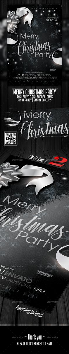 Buy Merry Christmas Party Flyer Template by on GraphicRiver. All products are sold exclusively only on Graphicriver! Hello everyone. This is a cool flyer for a NightClub or Hous. Free Flyer Templates, Business Powerpoint Templates, Dj Party, Party Flyer, Christmas Balls, Merry Christmas, Xmas, Christmas Flyer Template, Restaurant Flyer