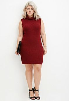 Turtleneck Bodycon Sweater Dress | Forever 21 PLUS - 2000180357