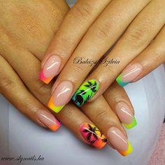 #Summer #neon #nails #crystalac #gelpolish