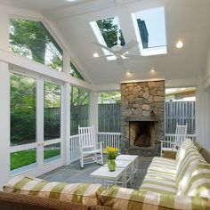 Porch Vaulted Ceiling Design Ideas, Pictures, Remodel, and Decor