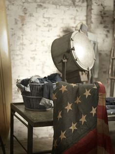 Show your patriotism with rustic American flag knits and denim selections from Denim & Supply